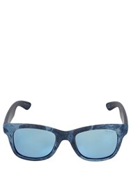 Italia Independent Denim And Leather Sunglasses