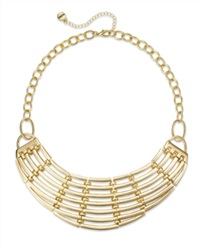 Alfani Metal Caged Bib Necklace A Macy's Exclusive