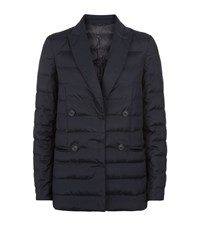 Brunello Cucinelli Double Breasted Quilted Jacket Female Blue