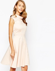 Closet Collared Midi Skater Dress Blush