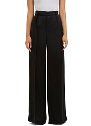 Calvin Klein Huranal Wide Leg Satin Pants Black