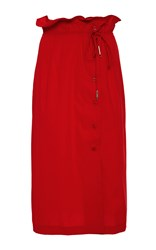 Azede Jean Pierre Button Down Skirt Red