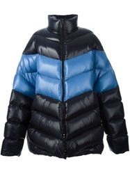 Raf Simons Oversized Down Jacket Blue