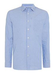 Howick Palmer Stripe Long Sleeve Shirt Blue