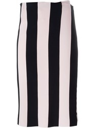Iceberg Striped Knit Wrap Skirt Blue