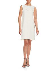 424 Fifth Scalloped Shift Dress Ivory
