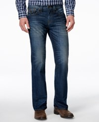 True Religion Men's Flap Urban Blue Wash Bootcut Fit Jeans