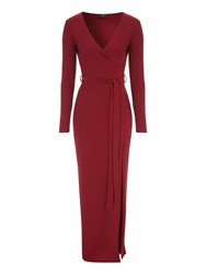 Jane Norman Wrap Maxi Dress Red