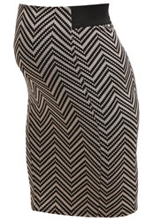 Dorothy Perkins Pencil Skirt Camel Black