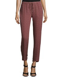 Haute Hippie Original Slim Shady Jogger Pants Bordeaux Buff