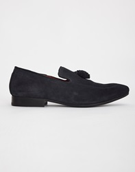 Base London Larkin Tassle Loafer Blue
