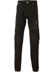 Versace Embroidered Jeans