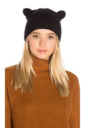 Autumn Cashmere Cat Ear Beanie Black