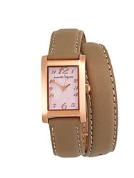 Nanette Lepore Rectangular Mother Of Pearl Analog Watch Beige