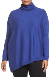 Eileen Fisher Plus Size Women's Merino Jersey Asymmetrical Turtleneck