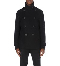 Wooyoungmi Double Breasted Wool Blend Jacket Black