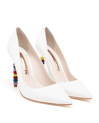 Sophia Webster Coco Crystal Pumps White Multi Coloured