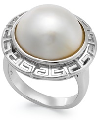 Macy's Pearl Ring Sterling Silver Cultured Freshwater Pearl Round Ring 15Mm