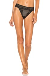 For Love And Lemons X Skivvies Bordeaux Thong Black
