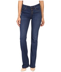 Liverpool Blake Button Up Boot Jeans In Lakewood Mid Blue Lakewood Mid Blue Women's Clothing