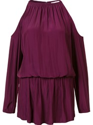 Ramy Brook Cut Out Mini Dress Pink And Purple