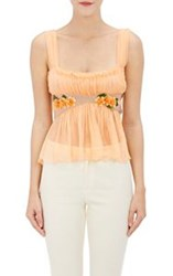 Alberta Ferretti Embellished Sleeveless Crop Blouse Multi Size 38 It