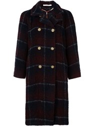Ermanno Gallamini Double Breasted Checked Coat Red