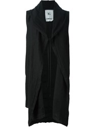 Lost And Found Rooms Sleeveless Hooded Jacket Black