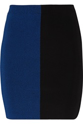 Alexander Wang Two Tone Stretch Knit Mini Skirt Blue