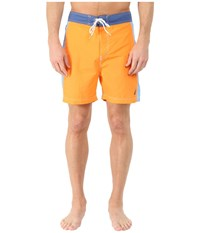 Nautica Color Block Half Back Trunk Sun Coast Orange Men's Swimwear Olive