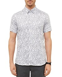 Ted Baker Bordeux Graphic Floral Regular Fit Button Down Shirt White