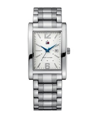Tommy Hilfiger Watch Men's Essential Silver Tone Mixed Metal Bracelet 1710267