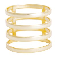 Earthy Chic Boutique 4 Row Cage Ring Yellow