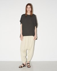 Black Crane Accordion Pant Creme