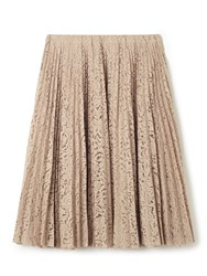 No.21 Pleated Lace Midi Skirt Neutral
