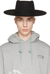 Off White Black Wide Brim Hat