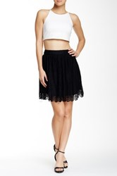 Soprano Lace Mini Skirt Black