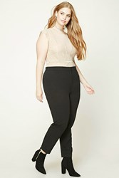 Forever 21 Plus Size High Rise Pants Black