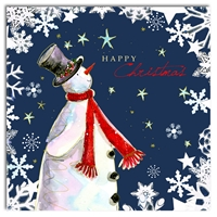 Hammond Gower Snowman With Red Scarf Charity Christmas Cards Pack Of 5
