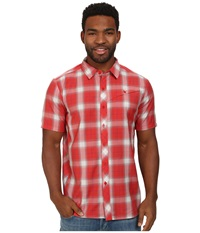 Icebreaker Departure S S Shirt Clay Men's Short Sleeve Button Up Tan