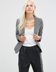 Minimum Corina Textured Blazer Black