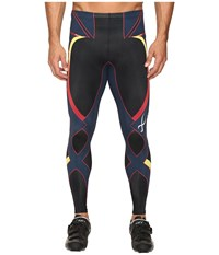 Cw X Revolution Tight Black Yellow Blue Red Men's Workout