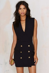 Nasty Gal All Suited Up Tuxedo Dress