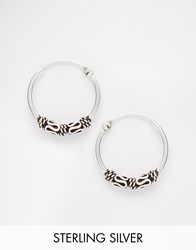 Kingsley Ryan Sterling Silver 14Mm Wire Wrap Hoop Earrings Silver