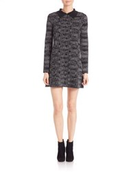 M Missoni Spacedye Collared Wool Dress Black Multi
