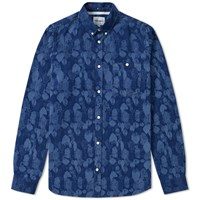 Norse Projects Anton Indigo Leaf Shirt Blue