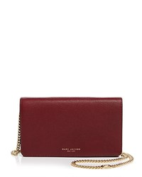 Marc Jacobs Perry Wallet On Chain Crossbody Dark Cherry