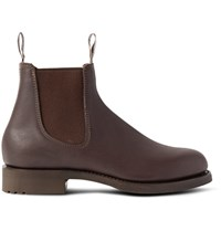 R.M.Williams Gardener Whole Cut Leather Chelsea Boots Brown