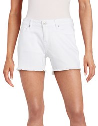 William Rast Fringe Trim Jean Shorts White