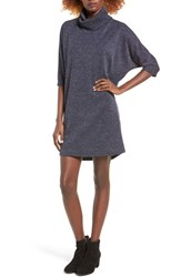 Everly Women's Dolman Turtleneck Sweater Dress Navy